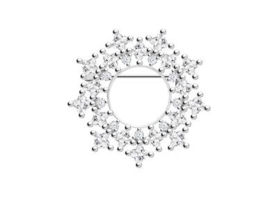Brož stříbrná Orion s kubickou zirkonií Preciosa - 5259 00