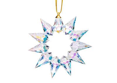 Dekorace Vánoční hvězda z českého křišťálu Preciosa, krystal AB - 0109 42