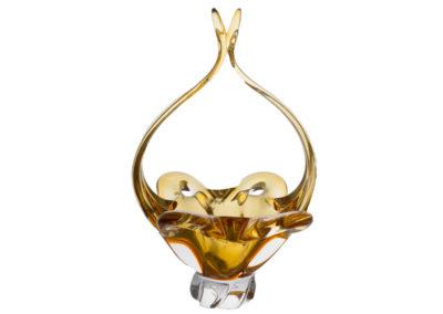 HUTNÍ SKLO KOŠ 9167e-10406-340 amber