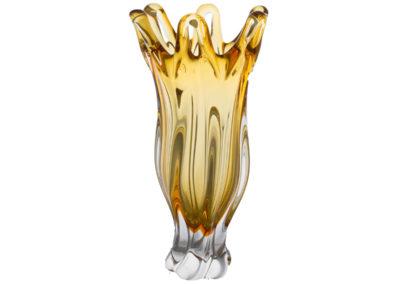 HUTNÍ SKLO VÁZA 8166E-10406-350 amber