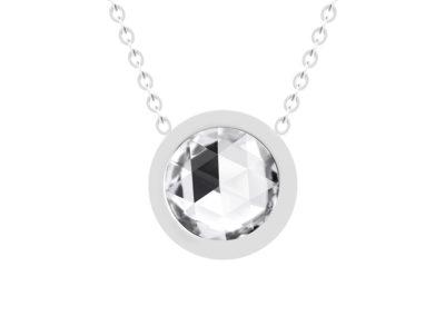 Náhrdelník Gemini z chirurgické oceli s českým křišťálem Preciosa, krystal - 7339 00