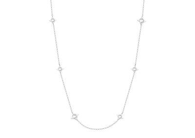 Náhrdelník Gemini z chirurgické oceli s kubickou zirkonií Preciosa, bílý - 7337 00