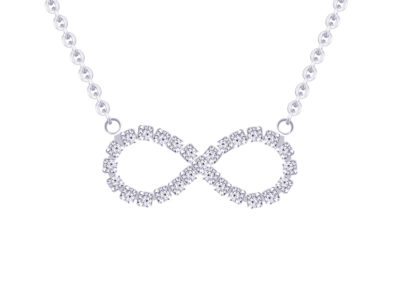 Náhrdelník Infinity s křišťálovými kameny Preciosa - 2044 00