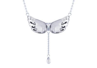 Náhrdelník stříbrný Crystal Wings, andělská křídla s křišťálem Preciosa - 6064 00