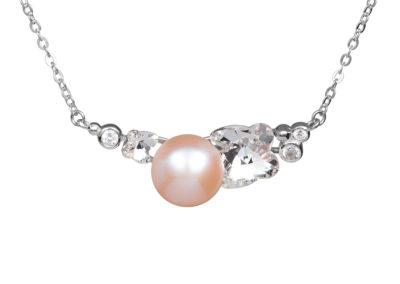 Náhrdelník stříbrný Gentle Passion s říční perlou Preciosa - 5212 69