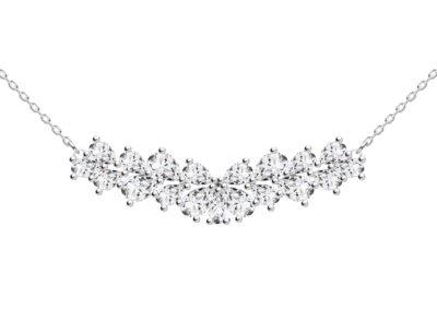 Náhrdelník stříbrný Libra s kubickou zirkonií Preciosa - 5244 00