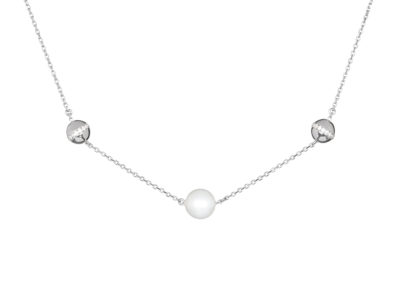 Náhrdelník stříbrný Moonlight Dew s pravou říční perlou Preciosa -5202 00