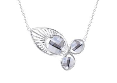 Náhrdelník stříbrný Orchid s českým křišťálem Preciosa - 6092 00