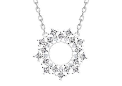 Náhrdelník stříbrný Orion s kubickou zirkonií Preciosa - 5257 00