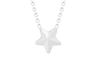 Náhrdelník z chirurgické oceli Virgo, hvězda s českým křišťálem Preciosa, krystal mat - 7342 10