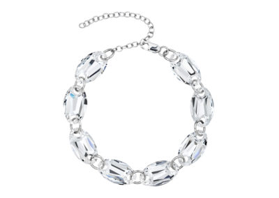 Náramek stříbrný Elegancy s křišťálem Preciosa - 6869 00