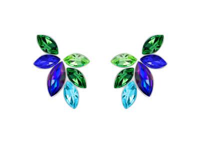 Náušnice Flying Gem by Veronika s českým křišťálem Preciosa - 2245 70