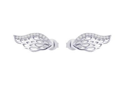 Náušnice stříbrné Angel Wings s kubickou zirkonií Preciosa - 5218 00