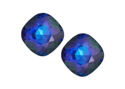 Náušnice stříbrné Brilliant Rose s českým křišťálem - modré - 6012 64