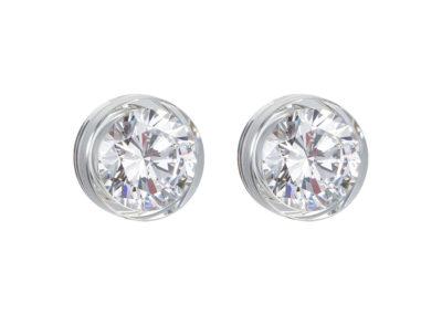 Náušnice stříbrné Brilliant Star s kubickou zirkonií Preciosa - bílé - 5196 00