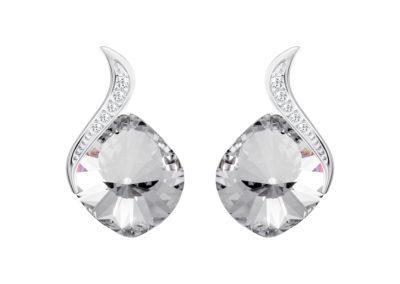 Náušnice stříbrné Butterfly Dream s českým křišťálem Preciosa, krystal - 6296 00