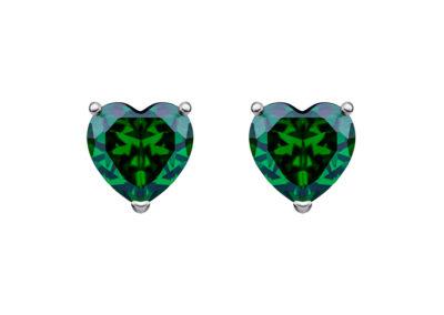 Náušnice stříbrné Cher s kubickou zirkonií Preciosa - 5237 66