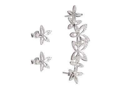 Náušnice stříbrné Cleopatra's Secret s kubickou zirkonií Preciosa - 5207 00