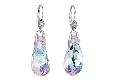 Náušnice stříbrné Crystal Beauty s českým křišťálem Preciosa - kombi - 6801 43