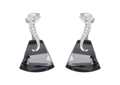 Náušnice stříbrné Crystal Bell s českým křišťálem Preciosa - 6039 40
