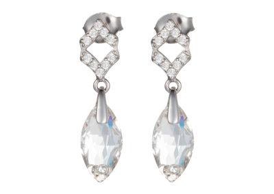 Náušnice stříbrné Crystal Bud s českým křišťálem Preciosa - 6018 00