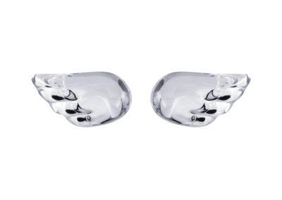 Náušnice stříbrné Crystal Wings, andělská křídla s křišťálem Preciosa - 6065 00