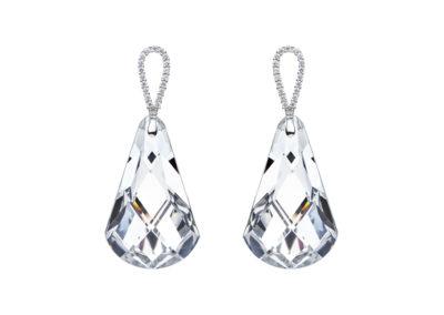 Náušnice stříbrné Cygnus s českým křišťálem a kubickou zirkonií Preciosa, krystal - 6114 00