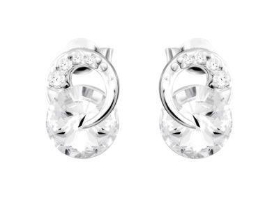 Náušnice stříbrné Gentle Beauty s českým křišťálem Preciosa - 6767 00