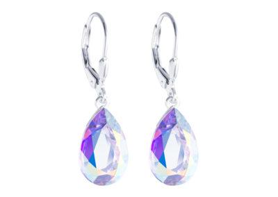 Náušnice stříbrné Iris s křišťálem Preciosa, krystal AB - 6079 42