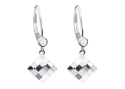Náušnice stříbrné Lil s českým křišťálem a kubickou zirkonií Preciosa - 6097 00