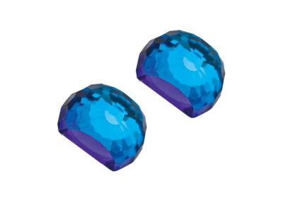 Náušnice stříbrné Miltonia s českým křišťálem Preciosa - modré - 6249 46