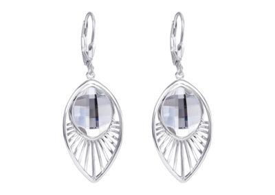 Náušnice stříbrné Orchid s českým křišťálem Preciosa - 6094 00