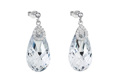Náušnice stříbrné Perfect Brilliance s českým křišťálem Preciosa - 6785 00