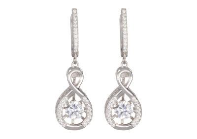Náušnice stříbrné Precision s kubickou zirkonií Preciosa - 5187 00