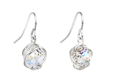 Náušnice stříbrné Romantic Beads z českého křišťálu Preciosa - 6716 42