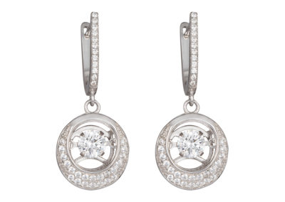 Náušnice stříbrné Shimmer s kubickou zirkonií Preciosa - 5185 00