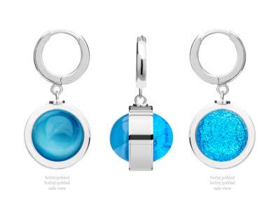 Náušnice stříbrné Singularis s českým křišťálem Preciosa, modré - 6117 67