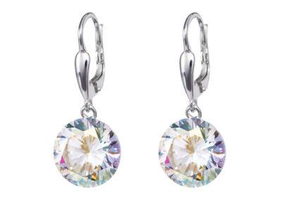 Náušnice stříbrné Starry s kubickou zirkonií Preciosa - krystal AB - 5173 42