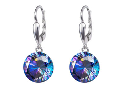 Náušnice stříbrné Starry s kubickou zirkonií Preciosa - modré - 5173 46