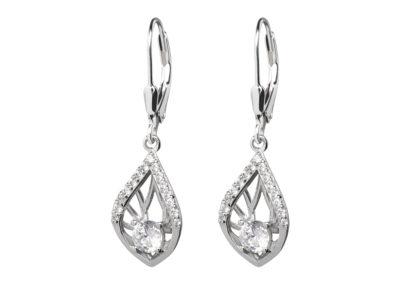 Náušnice stříbrné Touch of Elegance s kubickou zirkonií Preciosa - 5216 00