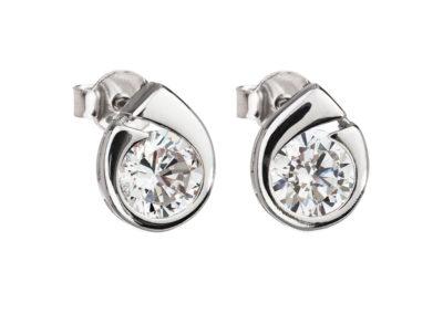 Náušnice stříbrné Wispy s kubickou zirkonií Preciosa - 5106 00