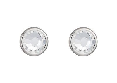 Náušnice z chirurgické oceli Carlyn s českým křišťálem Preciosa - krystal - 7235 00