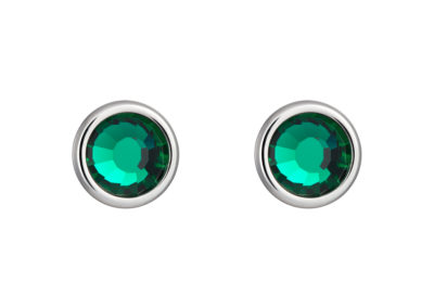 Náušnice z chirurgické oceli Carlyn s českým křišťálem Preciosa - zelené - 7235 66