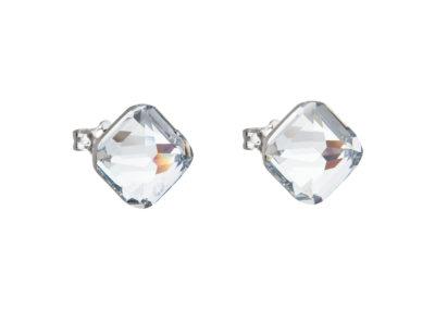 Náušnice z chirurgické oceli Elli s českým křišťálem Preciosa - krystal - 7629 00