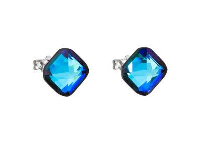 Náušnice z chirurgické oceli Elli s českým křišťálem Preciosa - modré - 7629 46