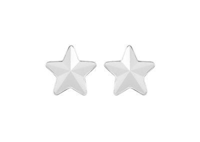 Náušnice z chirurgické oceli Virgo, hvězdy s českým křišťálem Preciosa, krystal mat - 7343 10