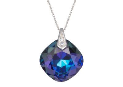 Přívěsek stříbrný Brilliant Rose s českým křišťálem Preciosa - modrý - 6011 64