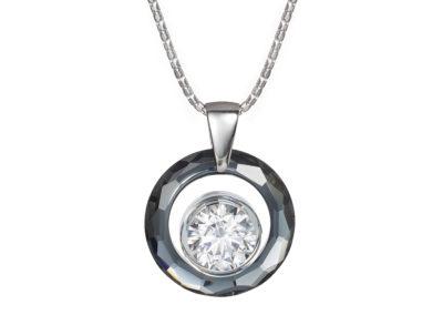 Přívěsek stříbrný Brilliant Star by Veru s kubickou zirkonií Preciosa - 5199 40