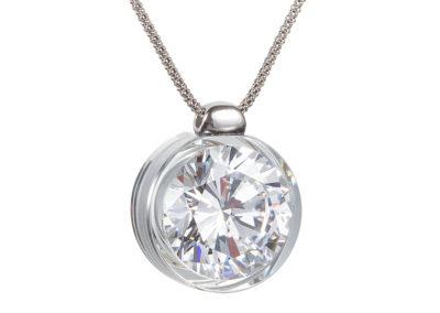 Přívěsek stříbrný Brilliant Star s kubickou zirkonií Preciosa - bílý - 5195 00