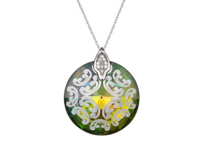 Přívěsek stříbrný Crystal Rose I - vitrail medium - 6008 41